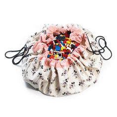 Play and Go - speelmat en opbergzak - - Minnie Gold Toy Storage Bags, Kids Storage, Intelligent Design, Minnie Mouse Toys, Motifs Roses, Play N Go, Baby Store, Cotton Bag, Baby Accessories
