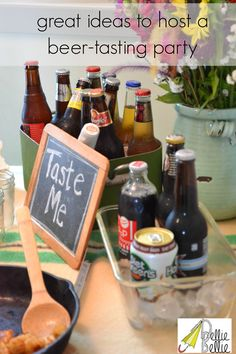 great ideas for a beer-tasting party!