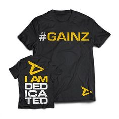 Dedicated T-Shirt GAINZ Dedicated T-shirt with Logo and Slogan Main Colour: Black Quote Posters, Main Colors, Slogan, Ted, Nutrition, T Shirt, Colour Black, Affair, Clothes