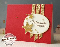 Hero Arts Cardmaking Idea: Merriest Wishes
