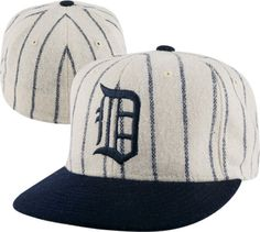 528e84555b7 Detroit Tigers Cooperstown 900 Pinstripe Fitted Hat Detroit Tigers Apparel