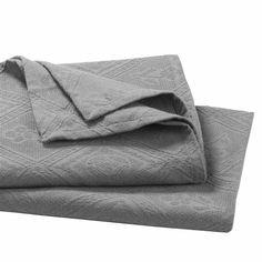 Jetée de lit piqué de coton jacquard, INDO La Redoute Interieurs