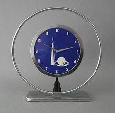 Love The Art Deco Meets Mid Century Feel! Vintage Art Deco Futuristic Clock   eBay