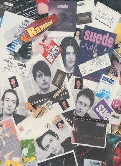 Someone's Suede paraphernalia -- those aren't real L. Brett Anderson, Britpop, Rock Legends, Mug Shots, Rock N Roll, The Outsiders, Daddy, Beautiful People, Swag