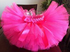 Rosa tutú tutú de color de rosa caliente por ASweetBabyBoutique