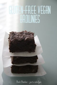 If this recipe works and doesnt turn into the giant greasy glob most gf vegan brownies do I will be in love. The post Emerils Gluten-Free Vegan Brownies appeared first on Dessert Park. Vegan Gluten Free Brownies, Sans Gluten Vegan, Vegan Gluten Free Desserts, Gluten Free Treats, Vegan Treats, Vegan Foods, Gluten Free Baking, Dairy Free Recipes, Vegan Recipes
