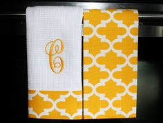 Monogram Kitchen Towels or Hand Towels in  by DesignsByThem