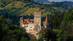 Are you planning to visit the Dracula-famed Bran Castle situated on the top of a mountain in central Romania? The historic Poenari Castle is closed these days for th… Bran Castle Romania, Journal International, Comte Dracula, Real Castles, Dracula Castle, Visit Romania, Destinations, Fairytale Castle, Italy Tours