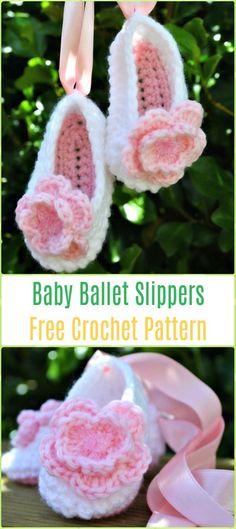 Crochet Baby Ballet Slippers Free Pattern - Crochet Baby Booties Slippers Free Pattern