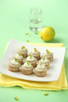 Pistazie Mini Cupcakes mit Kalk und Schokoladen / Mini Cupcakes de Pistazien com lima e Schokolade ralado