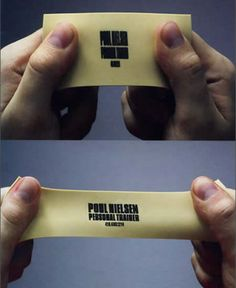 Clever - business card for a personal trainer