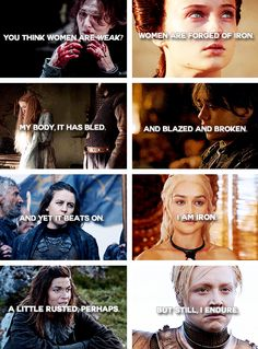 Game of Thrones ladies + iron