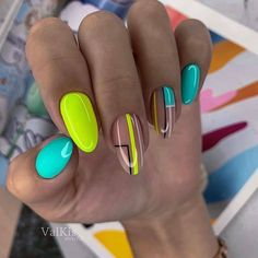 Chic Nails, Stylish Nails, Trendy Nails, Summery Nails, Simple Nails, Minimalist Nails, Neon Nails, Dope Nails, Neon Nail Art