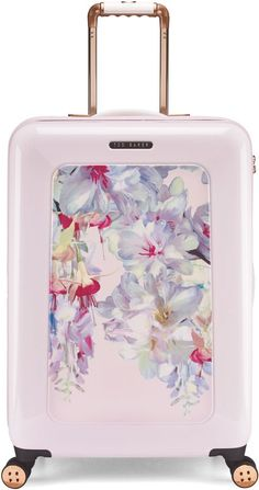 Pin for Later: These 16 Printed Suitcases Are Your Ticket to Travel in Style Ted Baker Hanging gardens 8 wheel hard medium suitcase Ted Baker Hanging gardens 8 wheel hard medium suitcase (£245)