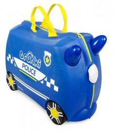 Save the day with the latest Trunki to patrol the streets… Percy the Police Car Trunki! Take Percy the Police Car Trunki on its very own emergency patrol. Cabin Luggage, Hand Luggage, Traffic Police, Police Cars, Trolley Cabina, Police Stickers, Kids Ride On, One Color, Colour