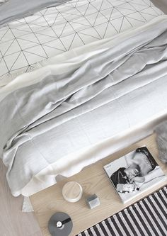 ♡ black and white textile love