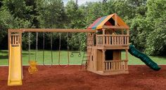 outdoor playsets with monkey bars plans   Playset Showcase - King's Tower Playsets   Yutzy's Farm Market