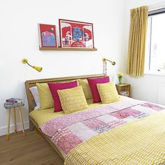 decoração de quarto com amarelo