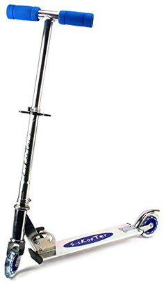 SSkooter Childrens Two Wheeled Metal Toy Kick Scooter w Adjustable Handlebar Height Rear Fender Brake Blue -- More info could be found at the image url.