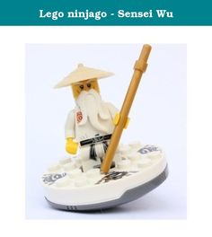 Lego ninjago - Sensei Wu. Sensei Wu - Lego Ninjago Minifigure.Includes Battle Staff. Approx. 2 Inches Tall/ Weight Approx. 1 Ounce. Choking Hazard for Children 3 and Under.
