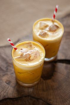 Pumpkin Pineapple Cocktail: Start the night off by serving guests pumpkin pineapple cocktails, rum-based drinks sweetened with honey and garnished with pumpkin pie spices. Keep a big batch in a punch bowl so guests can refresh their cups throughout the night. Source: Cookie and Kate