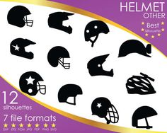 Hey, I found this really awesome Etsy listing at https://www.etsy.com/listing/504333252/12-silhouettes-helmet-head-sport-sports