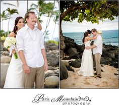 Destination Wedding Maui, Hawaii travel photographer Gannon's restaurant bride and groom Paris mountain photography beach
