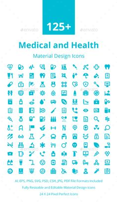 125+ Medical and Health Icons. Download here: https://graphicriver.net/item/125-medical-and-health-icons/17673943?ref=ksioks