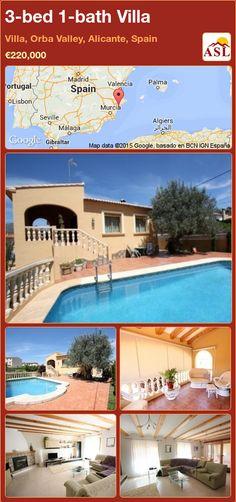3-bed 1-bath Villa in Villa, Orba Valley, Alicante, Spain ►€220,000 #PropertyForSaleInSpain