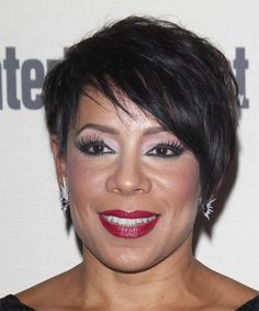 Selenis Leyva Short Straight Casual Hairstyle with Side Swept Bangs - Black Hair Color, Hairstyle Short, Casual Hairstyles, Straight Hairstyles, Short Straight Hair, Short Hair Cuts, Short Hair Styles, Selenis Leyva, Short Silver Hair, Side Swept Bangs