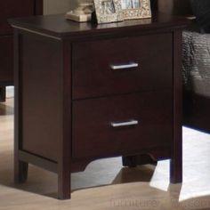Amazon.com: Coaster 2 Drawer Nightstand in Mahogany Finish: Furniture & Decor