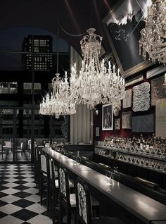 Baccarat Hotel NY #inspirations #designinspiration #moderninteriordesign decorate, interior design, luxury design . See more inspirations at http://www.luxxu.net