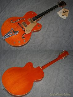 1961 Gretsch 6120, Western Orange, Ebony fingerboard with Neo Classical inlays, Two Filtertrons, Bigsby, Stunning guitar with Hang tags and original hard case