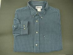 AEROPOSTALE mens Shirt XL Free Shipping casual LS blue plaid long sleeve  #Aeropostale #ButtonFront
