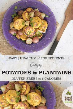 Crispy Potatoes and Plantains Gluten Free Recipes, Vegetarian Recipes, Healthy Recipes, Easy Recipes, Crispy Potatoes, Roasted Potatoes, Roasted Potato Recipes, Bodybuilding Nutrition, Summer Recipes