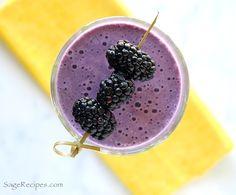 Banana and Blackberry Whey Protein Shake recipe