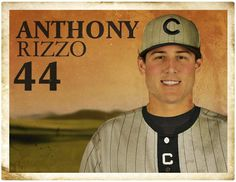 Anthony Rizzo in the Turn Back the Clock uniform from 6/29 in Seattle.