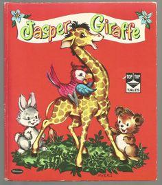 Whitman 1949 ''Jasper Giraffe'', ill. Louise Myers   eBay