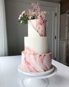 Latest No Costs 33 Marble Wedding Cakes to Blow Your Mind Away Thoughts A . - Latest No Costs 33 Marble Wedding Cakes to Blow Your Mind Away Thoughts An easy way to check out wo - Blush Wedding Cakes, Wedding Cake Roses, Floral Wedding Cakes, Elegant Wedding Cakes, Beautiful Wedding Cakes, Wedding Cake Designs, Wedding Cake Toppers, Beautiful Cakes, Blush Weddings