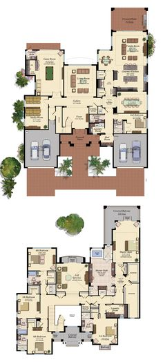 Plan 430000LY Sprawling 4 Bed Hill Country House Plan with Separate