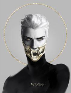 7 sins: Wrath Acrylic Box by jwitless_art - 4 X 4 X 3 Character Inspiration, Character Art, Character Design, 7 Sins, 7 Deadly Sins, Wow Art, Dark Art, Art Inspo, Art Reference