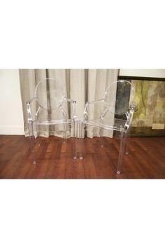 Dymas Modern Acrylic Armed Ghost Chair - Clear by W.I. Modern Furniture on @HauteLook