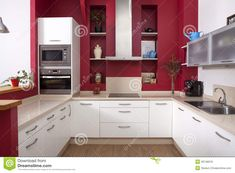 red walls in kitchen - Google Search