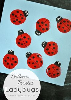 When I hear the word spring one of the first things I think of is ladybugs. We love, love ladybugs! Last year I shared this adorable balloon print ladybug craft over at Cooking with Ruthie Ladybug Art, Ladybug Crafts, Kids Prints, Baby Prints, Spring Crafts For Kids, Art For Kids, Preschool Crafts, Craft Kids, Diy Crafts