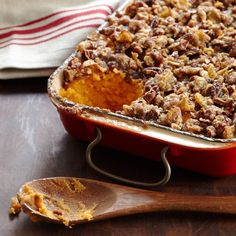 Sweet potatoes grow in abundance in Alabama, where sculptor Sandi Stevens' family eats them year-round. This casserole is a Stevens favorite: silky pu...