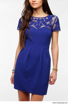 royal blue dress - cute idea for bridesmaid dresses!