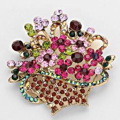 Bouquet of Flowers Brooch pin