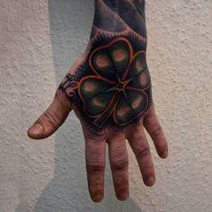 60 Four Leaf Clover Tattoo Designs For Men - Good Luck Ink Ideas Four Leaf Clover Tattoo, Clover Tattoos, Elbow Tattoos, Art Tattoos, Small Phoenix Tattoos, Small Chest Tattoos, Him And Her Tattoos, Hand Tattoos For Guys, Lilo And Stitch Tattoo