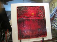 Fused Glass painting by Dianne Taylor. Www.fusionsbydianne.net