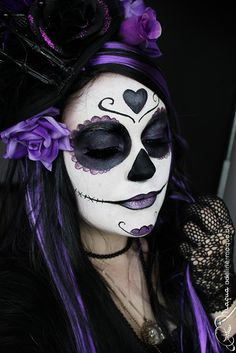 Tutoriel maquillage Halloween : Skull Girl, Sugar Girl et Bella Muerte.